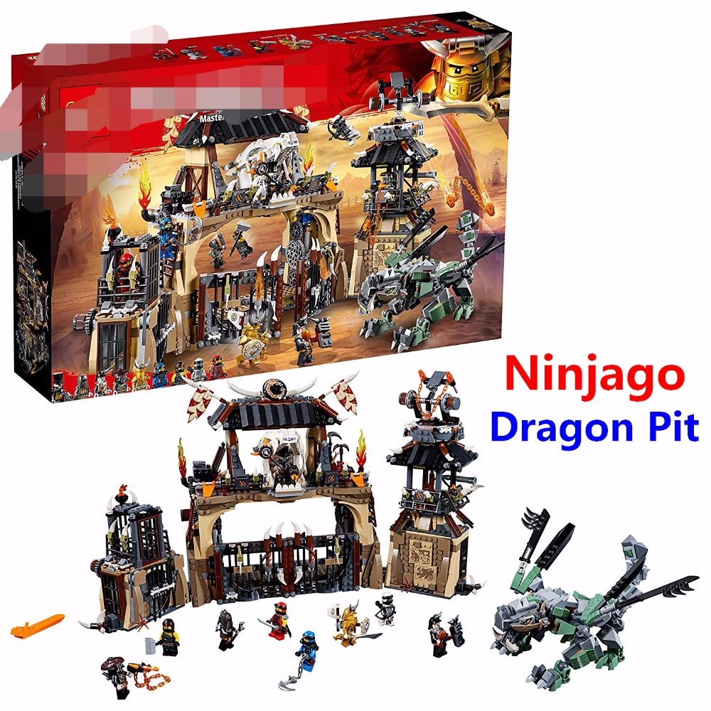 2018 Ninjago Dragon Pit Set Compatible With Lego Ninjagoed Series 70655 Building Blocks DIY Bricks Educational Toys For Children