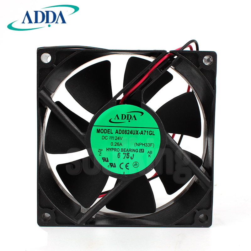NEW ADDA AD0824UX A71GL 8025 24V 0.26A high air volume cooling fan|Fans & Cooling Accessories| |  - title=