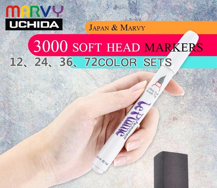 Marvy 3000 profissional escova cabeça macia marcador
