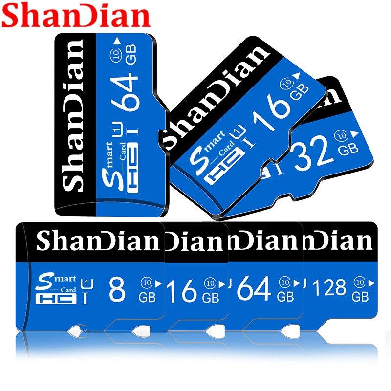 SHANDIAN nuiflash nuevo Class10 tarjeta de memoria micro sd de 128GB 64GB 32 GB/16 GB/8 GB tarjeta sd micro tarjeta TF tarjeta sd micro envío gratis