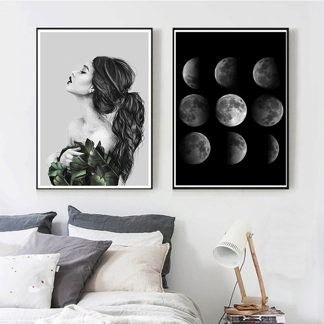 Moon phases in vintage design vector | free download.