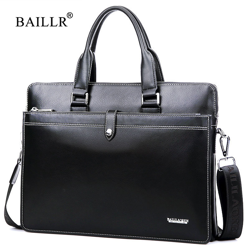 BAILLR Brand Genuine Leather Bag Casual Handbag first layer of Cowhide Men Crossbody Bags Tote Laptop Briefcase Men Business Bag 7071lc free shiping 2015 brand genuine leather travel bag first layer of cowhide travel bags for men tote bag