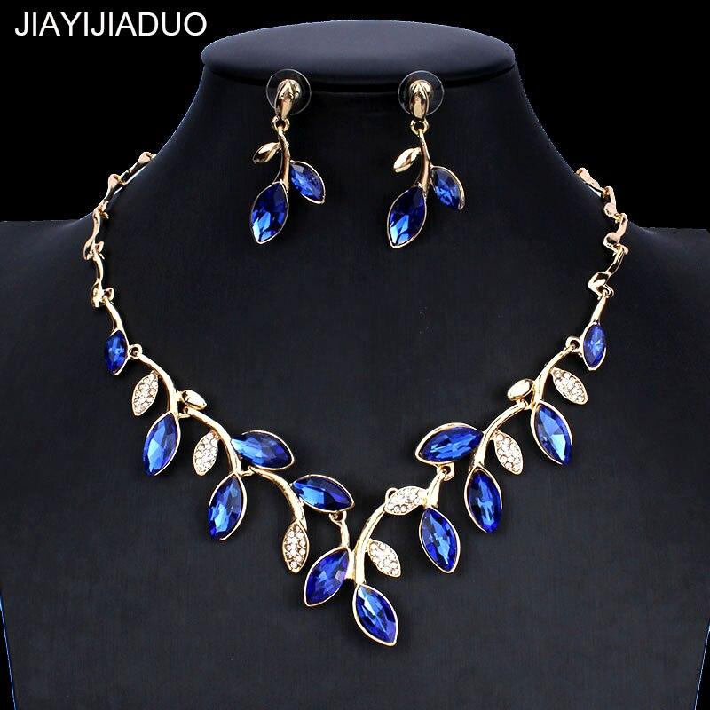 Jiayijiaduo Klassische Rosa Kristall Halskette Ohrringe Schmuck-set Für Die Schöne Frauen Kleid Zubehör Dropshipping 2018 Neue Hochzeits- & Verlobungs-schmuck