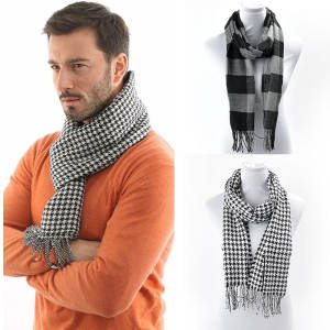 FAITOLAGI Winter men warm pashminas shawls knitting Scarves