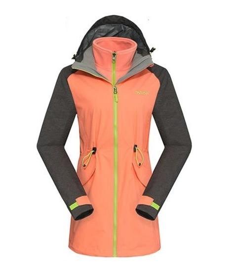 3 In 1 Winter Long Sport Hiking Skiing Windstopper Waterproof Outdoor Jacket Women Camping Coat Fleece Lining Jaqueta Feminina new arrive winter windstopper waterproof jaqueta feminina 3in1 ski hiking outdoor jacket women camping duck down lining coat