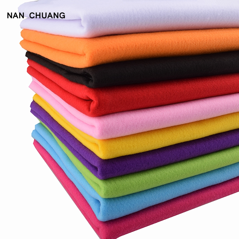 Non Woven Felt Fabric 2mm Thickness Polyester Soft Felt Of Home Decoration Pattern Bundle For Sewing Dolls Crafts 45x90cm