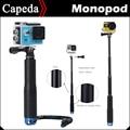 Extensível handheld vara telescópica monopé tripé para gopro hero 4 sj4000 sj5000 sj7000 sj8000 f60 eken h3 h8 h9