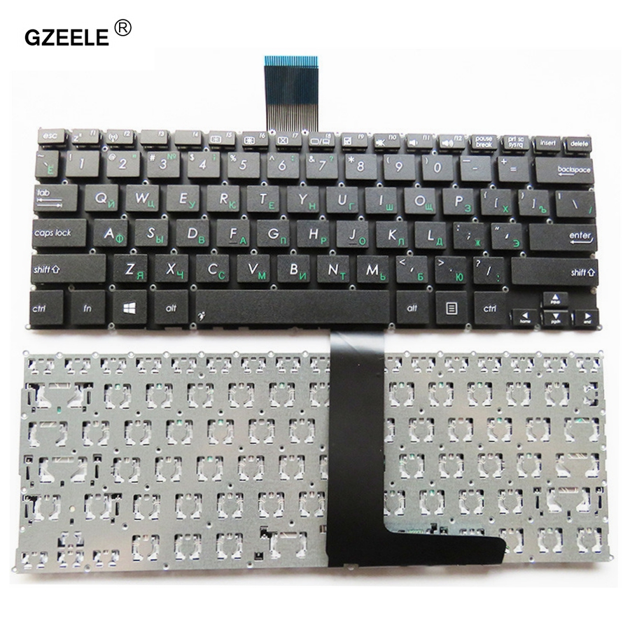 GZEELE Russian Keyboard For ASUS F200 F200CA F200LA F200MA X200CA X200LA X200M X200MA R202CA R202LA RU Laptop Keyboard Black New