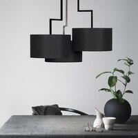 Современная ткань + железный подвесной светильник Персонализированная гостиная спальня офисное освещение для магазина одежды дизайн черн