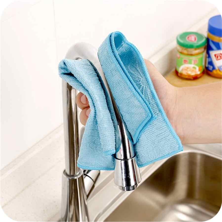 المنزلية نظيفة عالية الكفاءة مكافحة الشحوم اللون طبق القماش الخيزران الألياف غسل منشفة ماجيك المطبخ تنظيف قطعة قماش للمسح