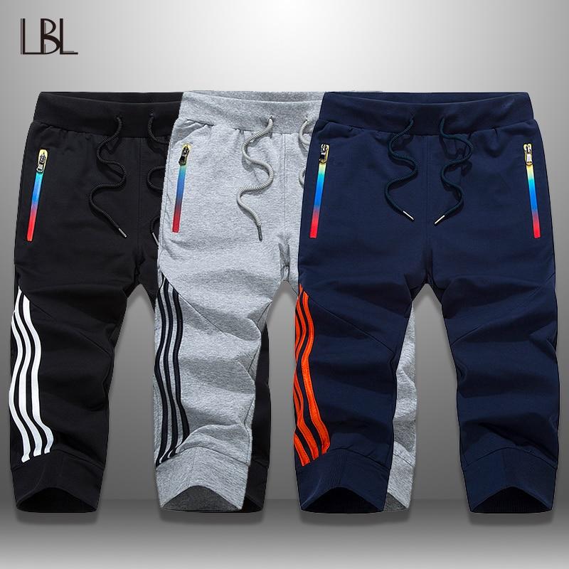 LBL Casual Shorts Men Summer Jogger Boardshorts Man Breathable Mens Shorts 3 Piece Sportswear Knee Length Short Sweatpants Male