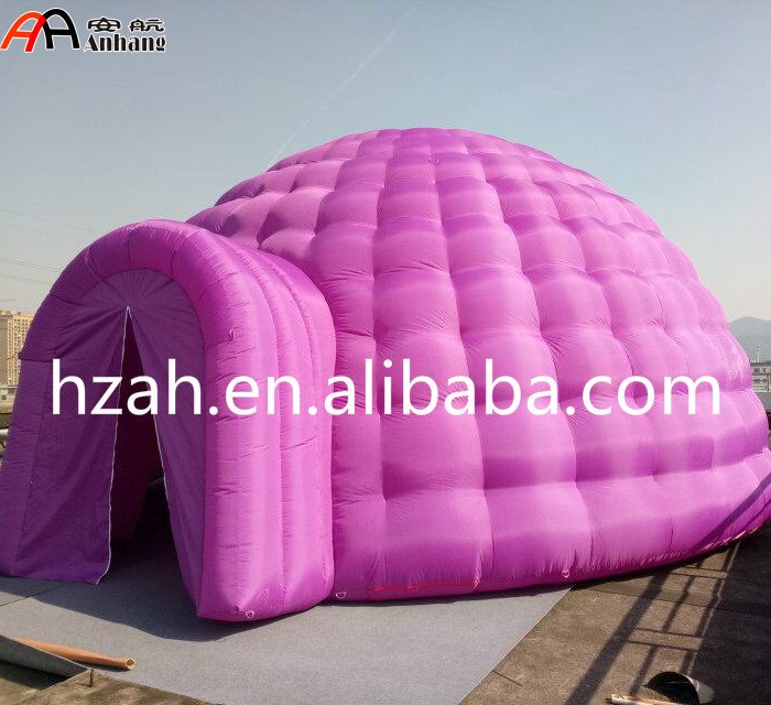 7m Inflatable Purple Igloo Dome Tent For Outdoor Decoration