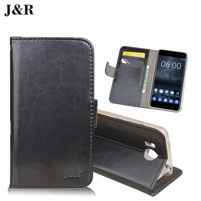 "J&R Leather Case For Prestigio Grace R7 Wallet Flip Cover For Prestigio Grace R7 PSP7501DUO 5.0"" Stand Protective Phone Bags"