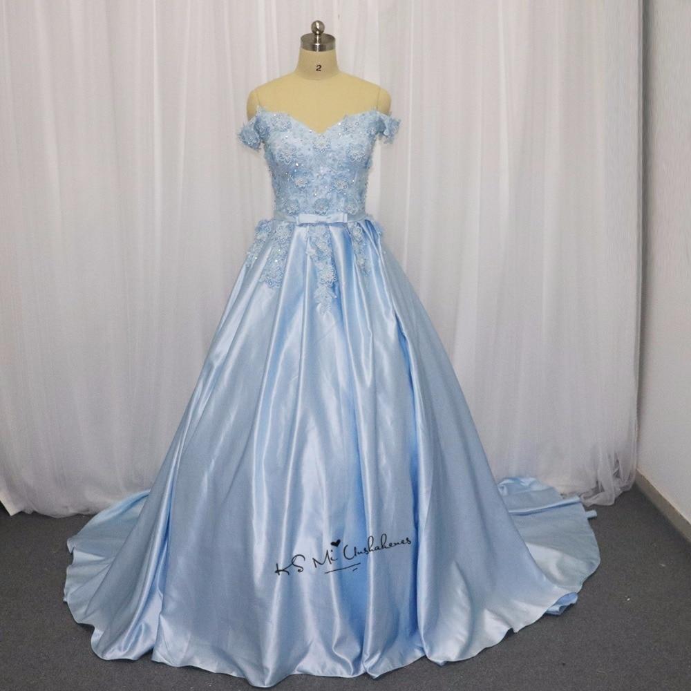 Vintage Wedding Dresses Michigan: Ice Blue Wedding Dress Vintage Flowers Pearls Lace China