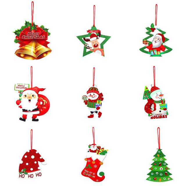 3D Romantic Xmas String Hanging Charm Party Decoration Christmas Tree  Ornament Wholesale Free Shipping 30RJ25 - 3D Romantic Xmas String Hanging Charm Party Decoration Christmas