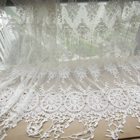 DIY Clothing Embroidery Cotton Gauze Lace Bilateral Quality Handmade Scarves Cloth Fabric YN671