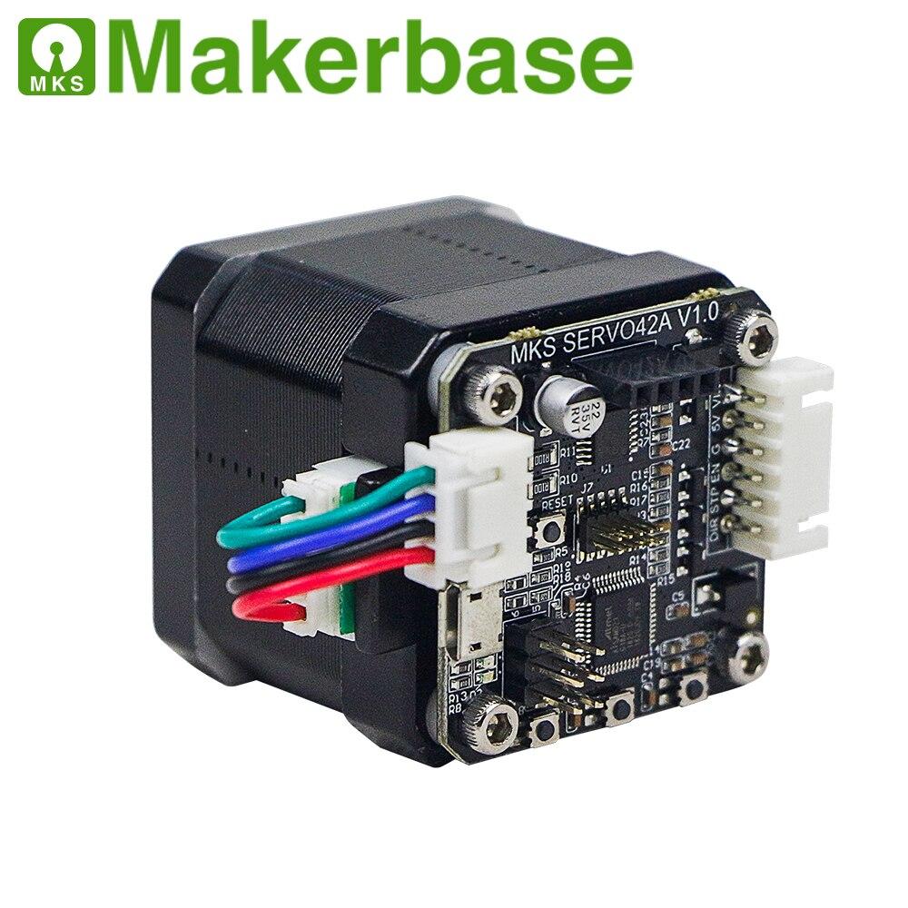 3D de bucle cerrado motor paso a paso NEMA17 MKS SERVO42 desarrollado por Makerbase que impide que perder pasos