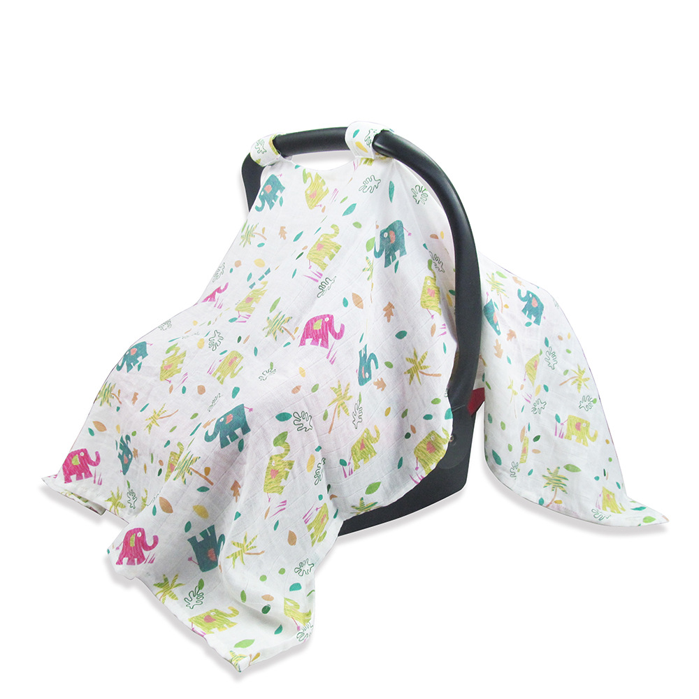 Infant Car Set For Baby Nursing Cover Letters Animals