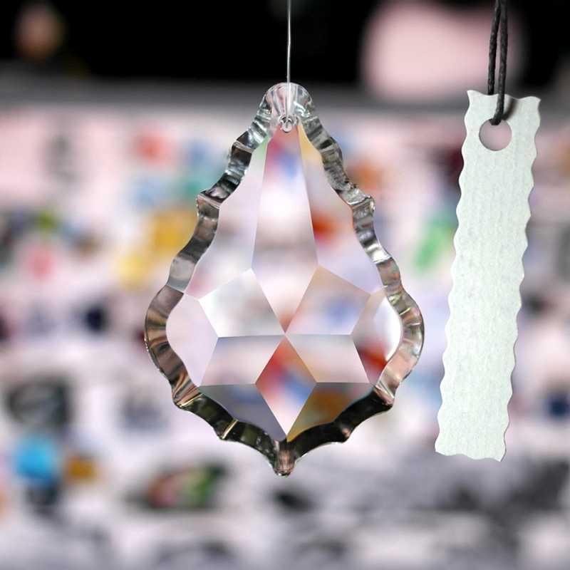 Klar Kronleuchter Glas Kristalle Lampe Prismen Teile Hängenden Tropfen Anhänger 38mm