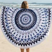 100% Cotton Printed Tassel Knitted Round Bohemia Beach Towel 150*150cm summer toalla playa serviette de plage beach swim towel