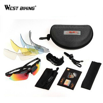 WEST BIKING UV400 Colorful Outdoor font b Sports b font Sunglasses Goggles Design With Box Bike