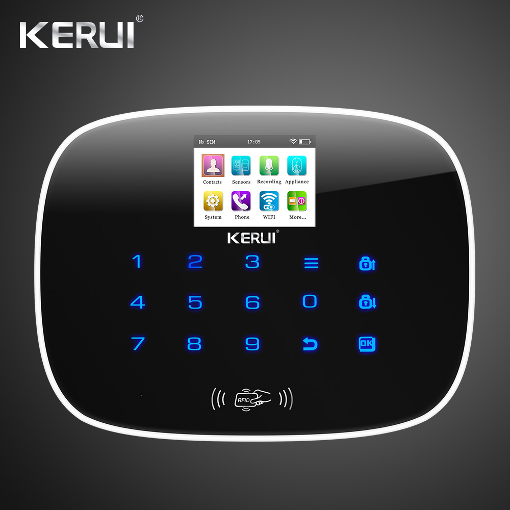 W193 3G 4G WIFI PSTN GSM SMS Home Burglar Alarm LCD GSM SMS Touch Screen Alarm