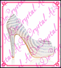 Aidocrystal fancy pearl beaded girls dancing shoes white open toe high heel party shoes