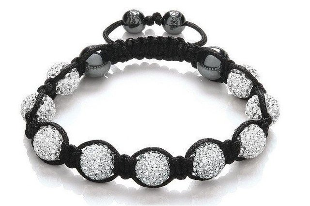 wholesale FREE Shipping  Shamballa white Czech Crystal 10mm Beads Ball Handmade Bracelet,fashion bracelet jewelry