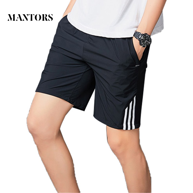 Men Striped Shorts 2019 New Casual Workout Jogger Sweatpants Fitness Mens Beach Boardshorts Quick-drying Breathable Solid Male