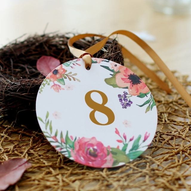 Us 17 11 50pcs Lot Table Number Name Cards Wedding Anniversary Engagement Party Birthday Baby Shower Table Wine Number Name Cards In Party Diy