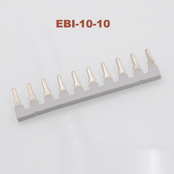 EBI10-10 Side Plug-in Connector Din Rail Terminal block UK-10N Center short circuit connection strip uk fittings EBI-10-10 image