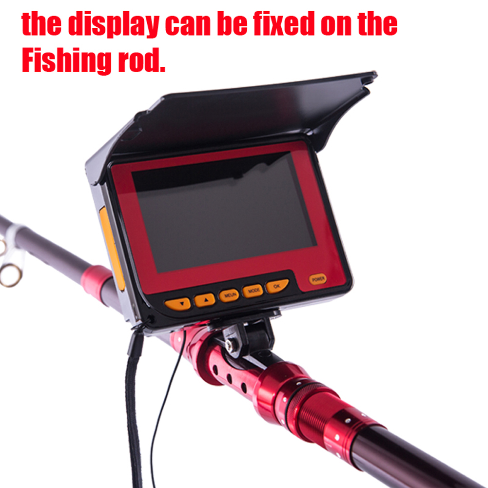 20m 4 3inch lcd monitor professional underwater fishing for Fishing line camera