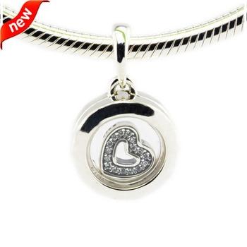 a60cd1df27 DIY adapta para Pandora pulseras flotante medallón encantos de cristal de  zafiro 100% cuentas de plata de ley 925 envío gratis