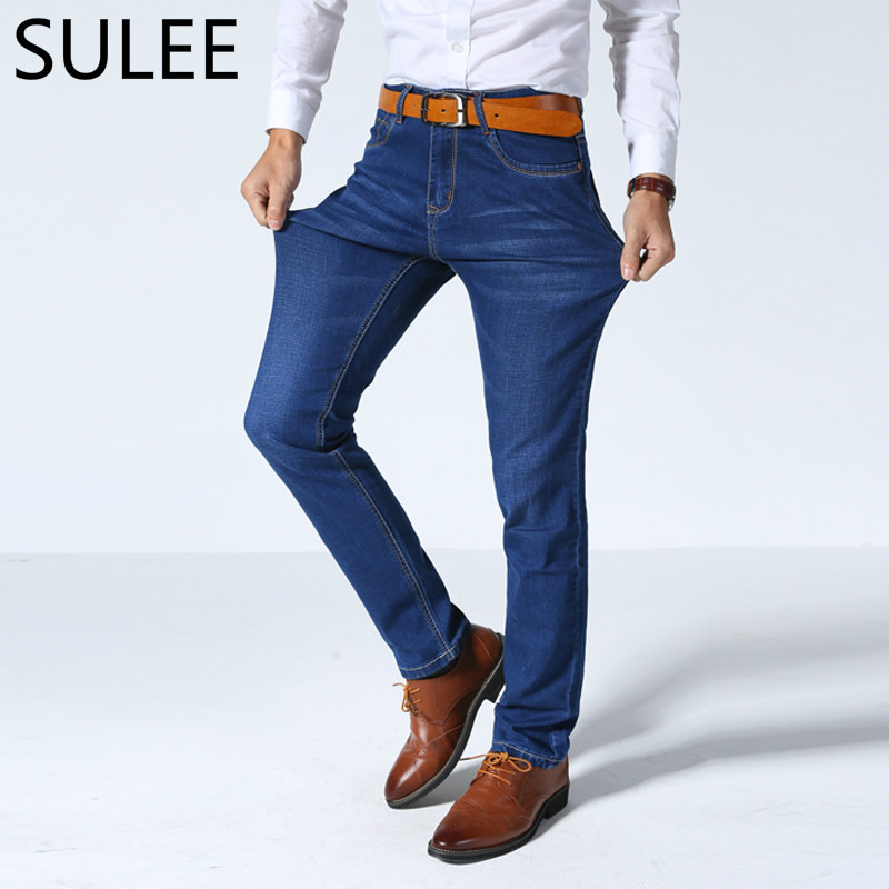 SULEE Brand Men's Jeans  High Stretch Denim Brand Men Jeans Size 30 32 34 35 36 38 40 42 Pants Trousers 3 Colors