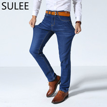 SULEE Brand Mens Jeans  High Stretch Denim Brand Men Jeans Size 30 32 34 35 36 38 40 42 Pants Trousers 3 colors