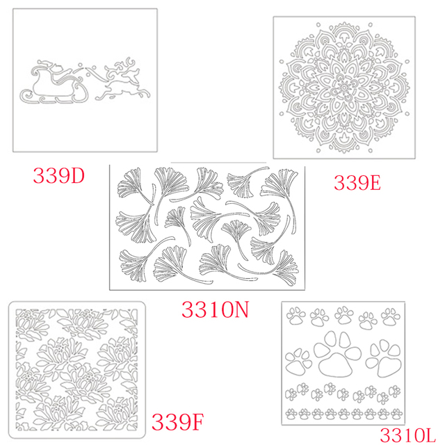 Mixed Stencil For Diy Sbooking Al Photo Paper Card Craft Fun Plastic Templates Decoration 2018