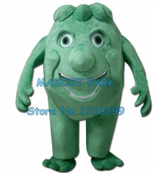 Хэллоуин Монстр талисман костюм для взрослых мультфильм зеленый нарисованный Монстр школьные костюмы героев аниме для костюмированного п...