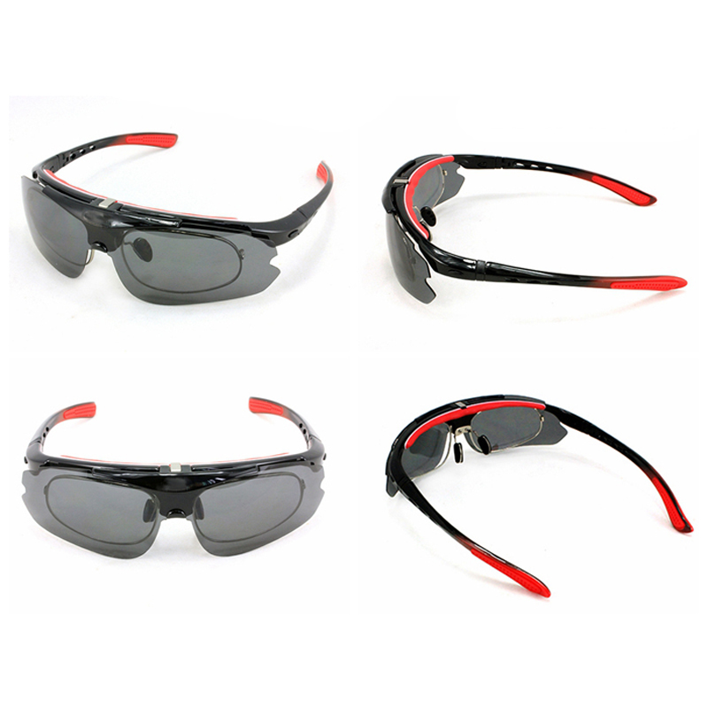 52a95111cc 2015 HOT SALE Flip up Polarized Prescription Sport Sunglasses Prescription  Cycling Glasses 3 Lens with strap UV400 Free Shipping-in Movie   TV  costumes from ...