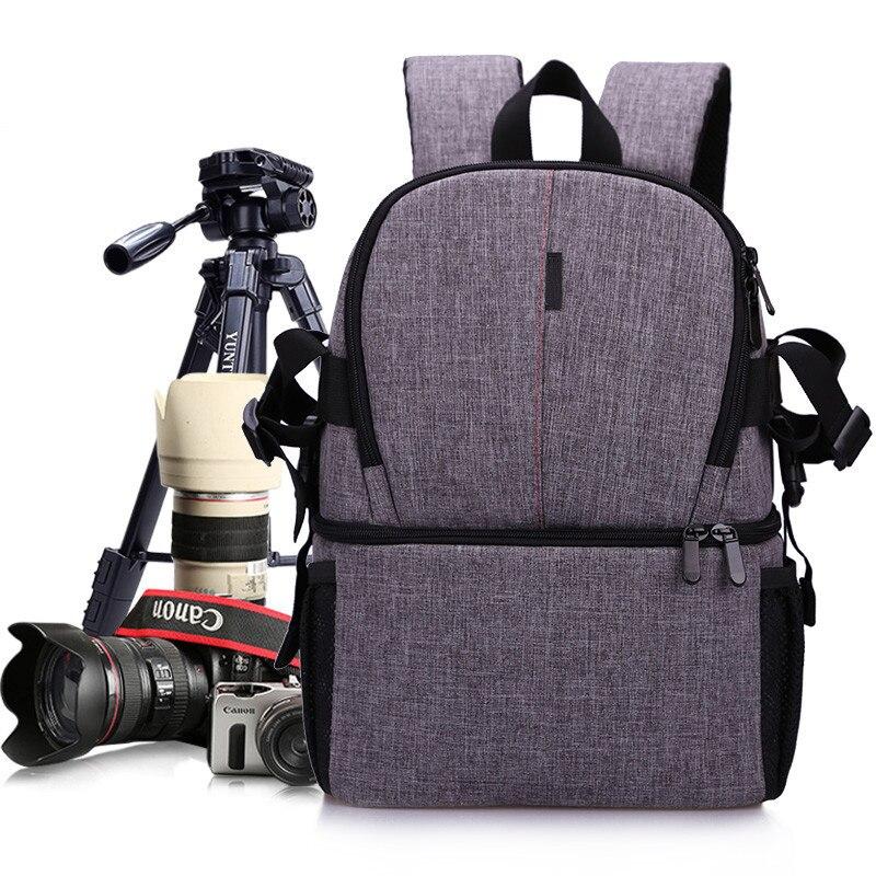 Kamera DSLR Wasserdichte Oxford Rucksack Weich Gepolsterte Schultern Tasche Stativ Fall für Canon Nikon Sony DSLR