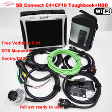 obd2 MB Star C4+CF19+HDD 2017.12 software Car/Truck mb c4 diagnostic-tool Star C4 SD Connect Full chip PCB scanner Fast DHL Free
