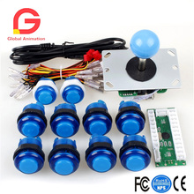 цены Arcade DIY Kits Parts USB Encoder To PC Games 5Pin Joystick + 10x LED Illuminated Push Buttons For Mame Raspberry Pi 2 3