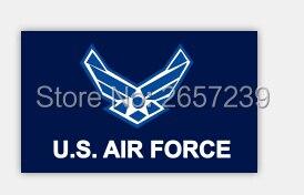 Freies Verschiffen 3x5ft Uns Air Kraft Flagge Banner150x90cm 100d Polyester Messing ösen Custom Flagge