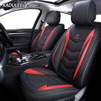 KADULEE Leather car seat covers for audi a3 8l 8p sportback a4 b8 avant a5 sportback a6 4f tt mk1 A1 A3 A6 A7 Q3 Q5 Q2 car seats