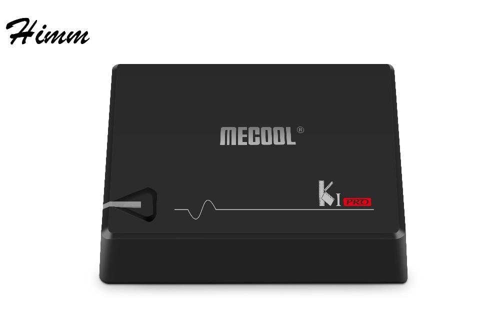 Mecool KI Pro DVB-C DVB T2+S2 Android 7.1 TV Box Amlogic S905D Quad-core BT4.0 2GB/16GB Smart Media Player Satellite Receiver i box rs232 dvb s satellite smart sharing nagra 3 dongle black