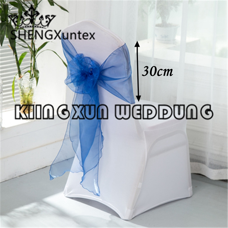 30cm width organza chair sash chair bow tie fit for wedding
