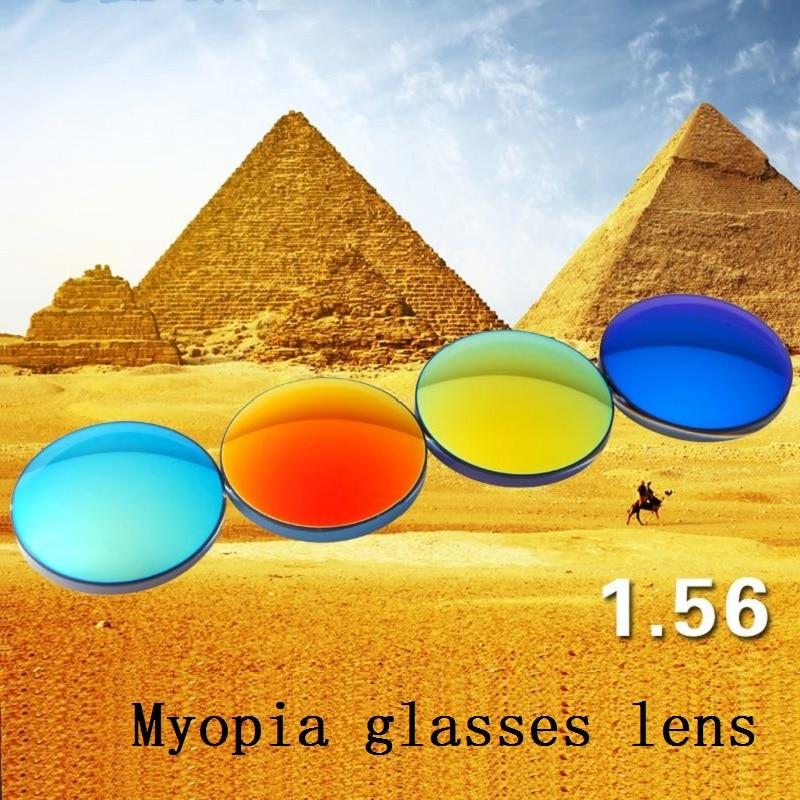 1b3d466979 1.56 Polarized colorful spherical brand myopia sunglasses prescription  lenses UV400 goggles optical glass lenses for sunglasses