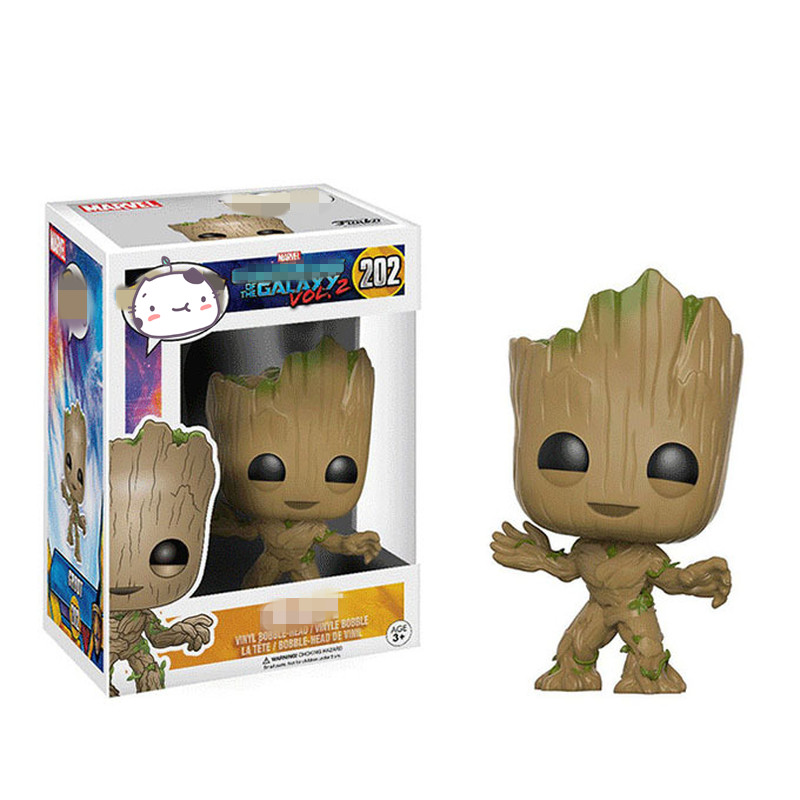 New Smile Baby Groot Figure Model Toys Creative Galaxy Tree Man Groot Doll Ornaments Hobby Collection Gifts new phoenix 11207 b777 300er pk gii 1 400 skyteam aviation indonesia commercial jetliners plane model hobby