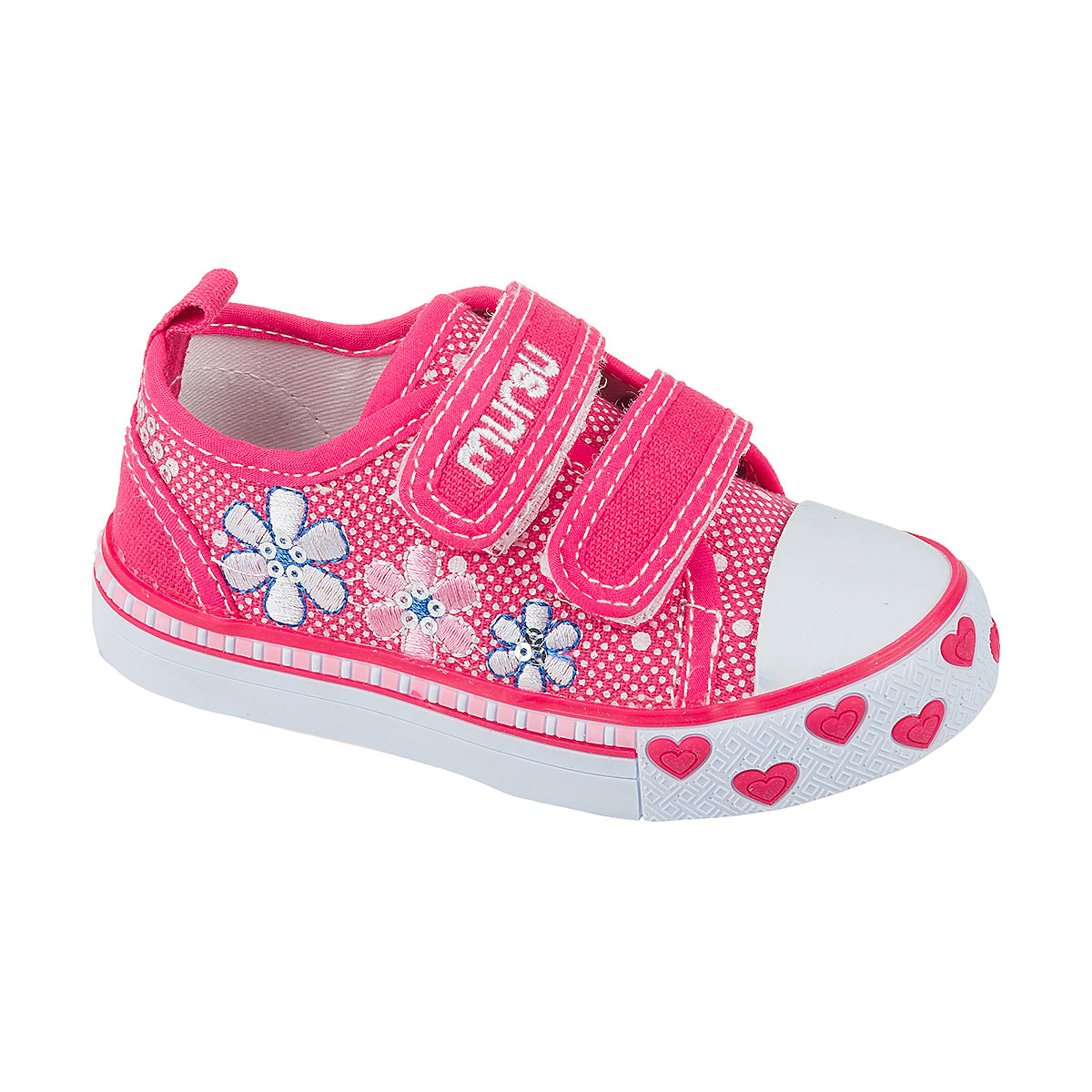 Фото - MURSU Children Casual Shoes 10611992 sneakers running shoes for children Pink sport Girls textile white female casual shoes canvas shoes