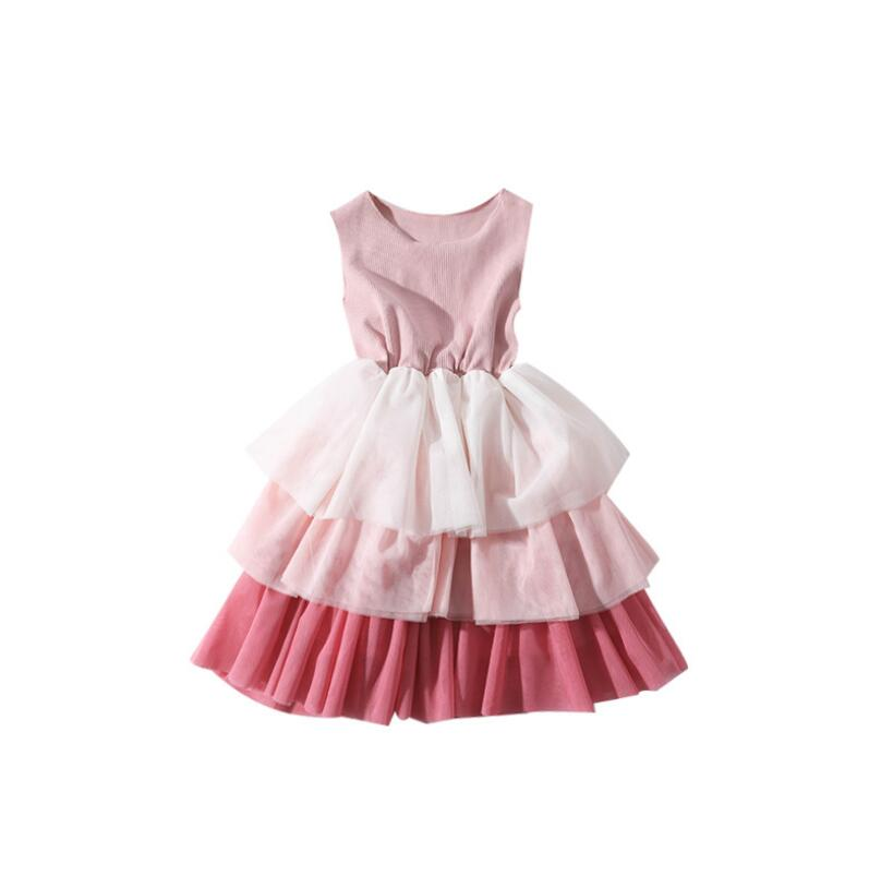 Wholesale Unequal In Performance Princess Children Sweet Dresses 5 Pcs/lot 2019 Baby Girls Summer Cotton Cake Vest Dress
