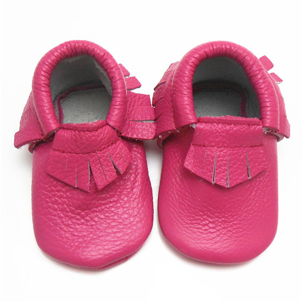 Baby Moccasins PU Leather baby first walker toddler floor casual shoes tassels cow suede newborn boys matte-leather soft sole